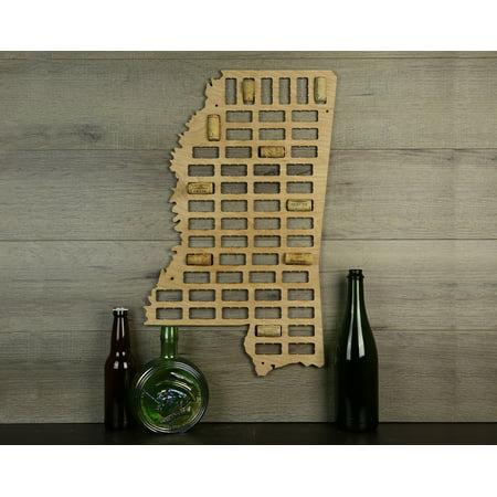 Wine Cork Traps State of Mississippi Wooden Wine Cork Holder Organizer Wall Decoration ()