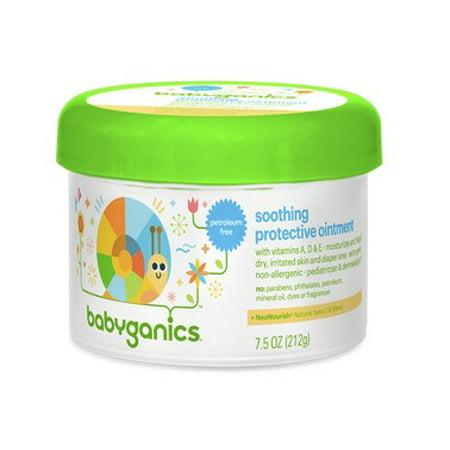 Babyganics Non-Petroleum Soothing Protective Ointment, 7.5oz Tub