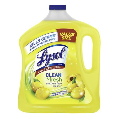 Lysol Clean & Fresh Multi-Surface Cleaner, Lemon & Sunflower, 90oz Resilient Floor Cleaner