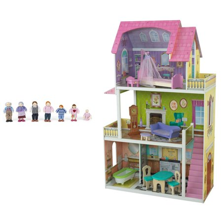 Kidkraft Florence 3 Floor Wooden Dollhouse With Furniture