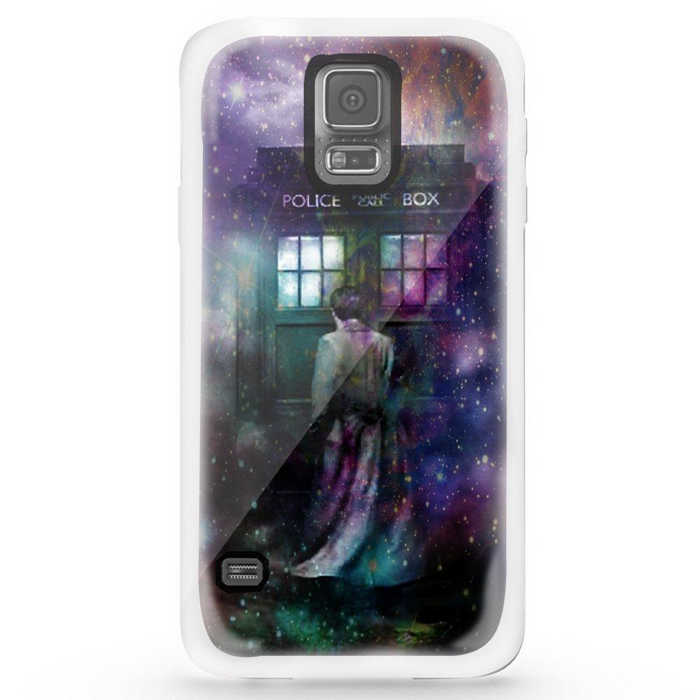 Ganma Dr Who Tardis Box in Galaxy Rainbow Case For iPhone and Case For Samsung Galaxy (Case For iPhone 5/5s white)