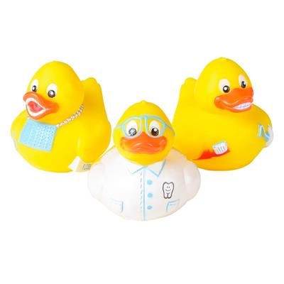 Rhode Island Novelty - Rubber Ducks - DENTAL DUCKIES (Set of 3 Styles) - Rubber Duck Clip Art