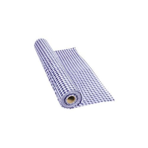 Charmant Fun Express   Purple Gingham Tablecloth Plastic Roll 100FT X 40 Inches