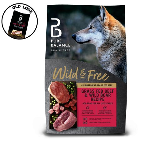 Pure Balance Grain-Free Wild & Free Beef & Wild Boar Recipe Dry Dog Food, 24 lb