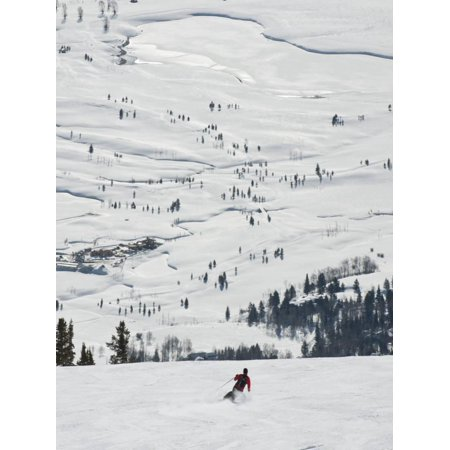 Skier at Jackson Hole Ski, Jackson Hole, Wyoming, United States of America, North America Print Wall Art By Kimberly Walker