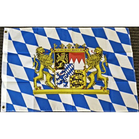 3x5 Bavaria Germany with Lions Bavarian German Oktoberfest Octoberfest Flag (Bavaria Flag)