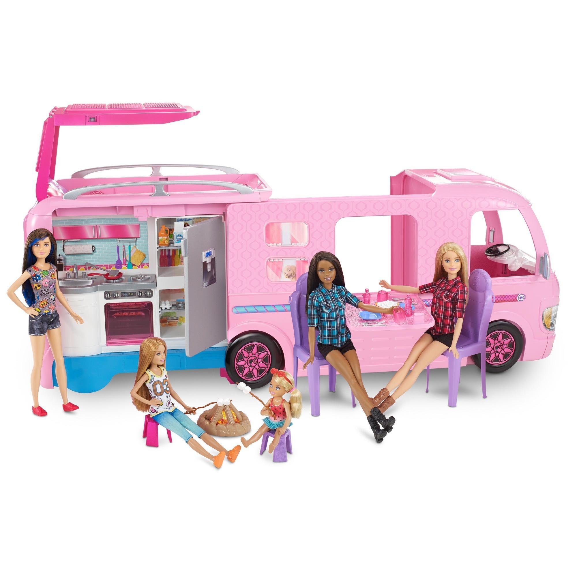 fecae8e173e Barbie DreamCamper Adventure Camping Playset with Accessories - Walmart.com