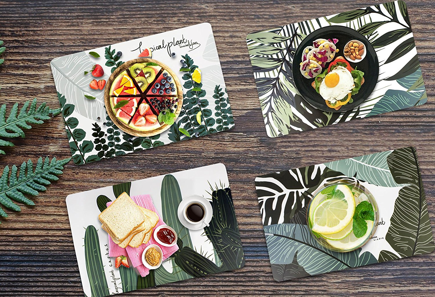 Set Of 4 Placemats Table Decor Mat For Kitchen Dining Round Tables Room  Office