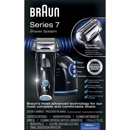 Braun Series 7 760cc-4 Electric Foil Shaver with Clean & Charge