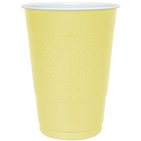 Hanna K, Plastic Co-Ex Cup, All Purpose, 16oz, Yellow,