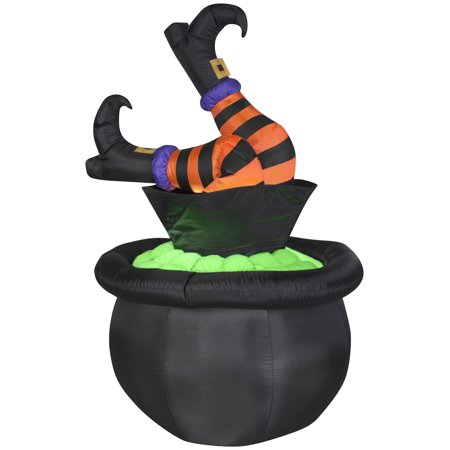 Plastic Witches Cauldron (Airblown Inflatables Animated Witch Legs in)