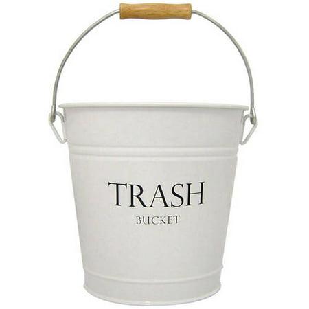 InterDesign Pail Waste Can Bucket - Black Metal Pail