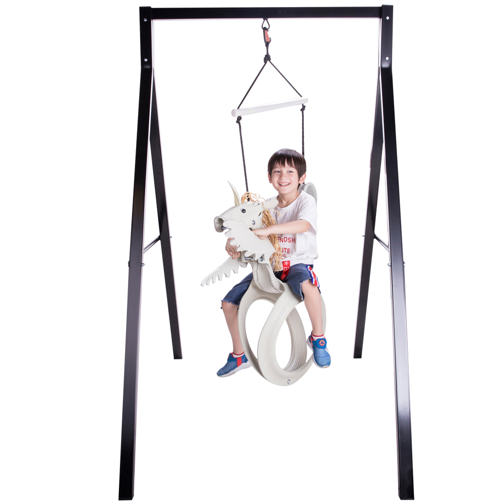 Sparkling Line SL001503 Unicorn Tire Swing, Gray