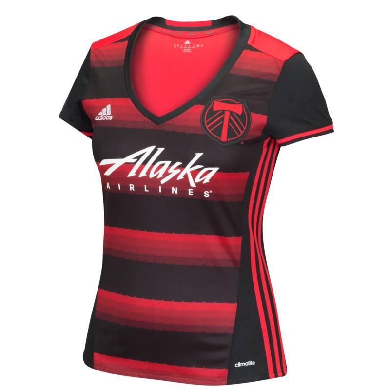 Adidas Portland Timbers Womens Secondary Replica Jersey (Black)