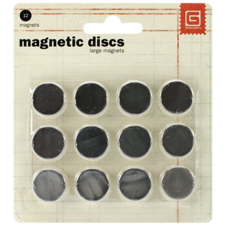 132 Snap - Basic Grey 5/8-Inch-by-1/32-Inch Magnetic Snaps Large., Ideal for scrapbook or card project By BasicGrey