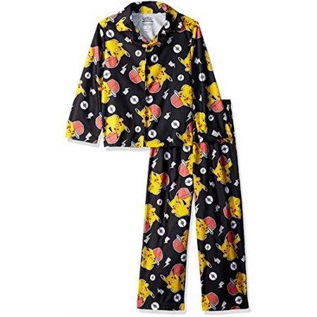 00fe48634 Pok mon Boys  Pikachu 2-Piece Pajama Coat Set