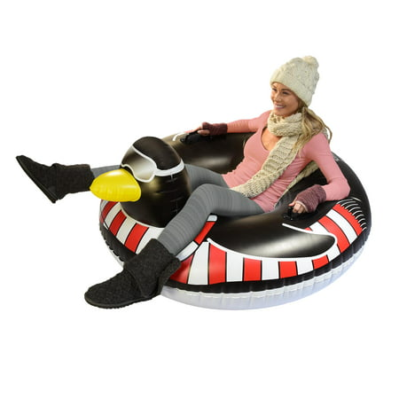 GoFloats Winter Snow Tube - Party Penguin - The Ultimate Sled and Toboggan