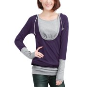 Women's Pullover 2 Fer Layered Top Black (Size M / 8)