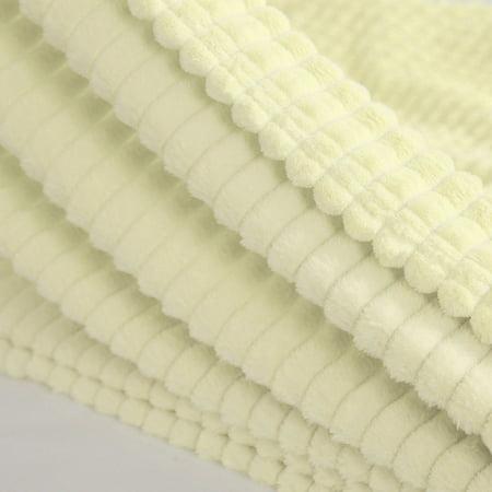 "Sofa Blanket Refined Craft Plaid Flannel Fleece Blanket Knee Blanket Wool Velvet- 59""x78"", Light Yellow - image 2 of 8"