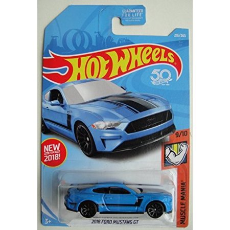 Hot Wheels 50th Anniversary 2018 Ford Mustang GT (Blue) Muscle Mania (2018 Mustang Gt Wheels)