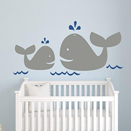 Nautical Mom And Baby Whale Wall Decal Decor Nursery