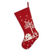 arcadia home snowy village scene christmas stocking