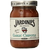 Jardine's 7J Ranch Garlic Chipotle Salsa, Medium, 16 Ounce (Pack of 6)