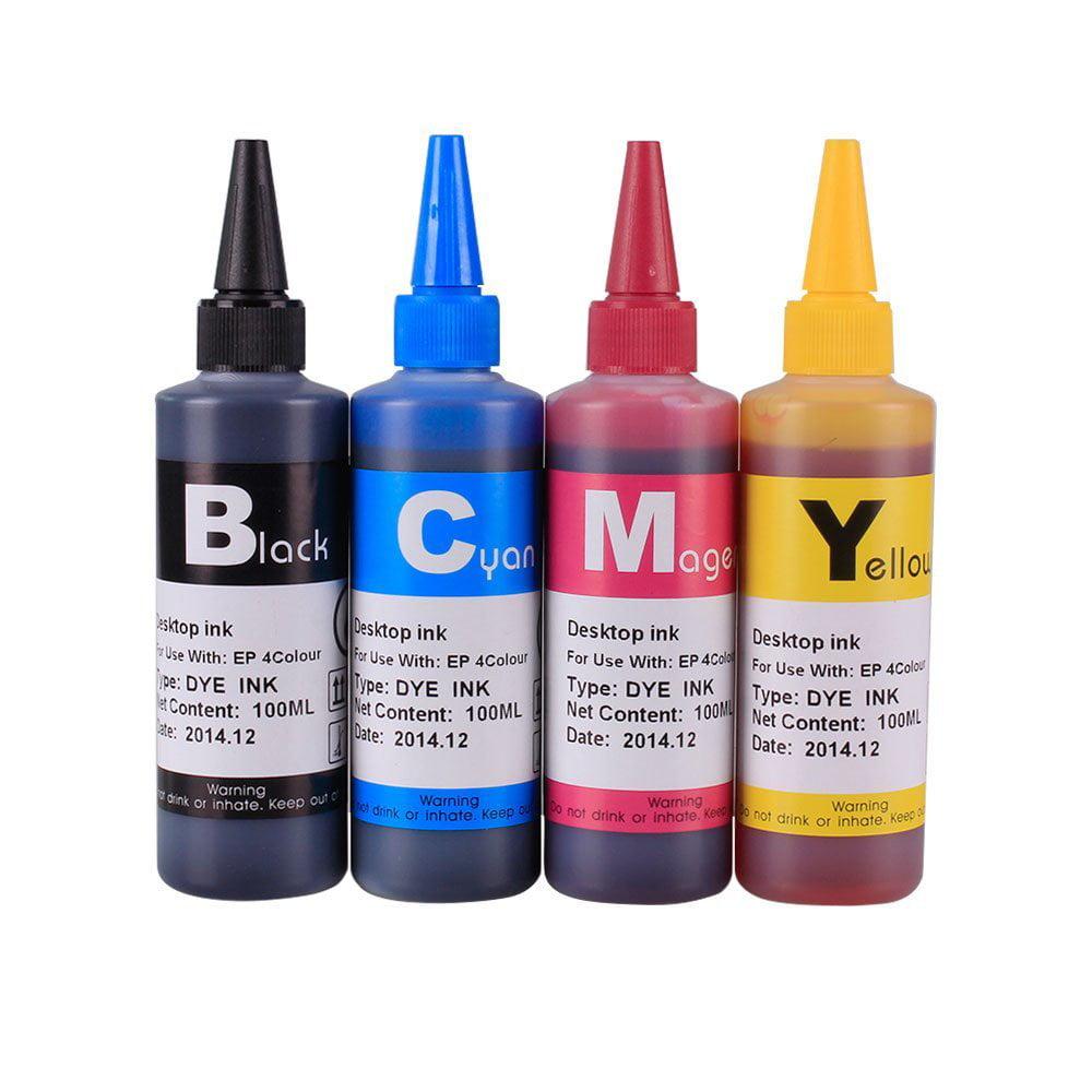 [INK Refill Bottle SET 400ml] for Epson T200 Expression XP-200 XP-300 XP-310 XP-400 XP-410 Workforce WF2520 WF2530 WF2540 Printers