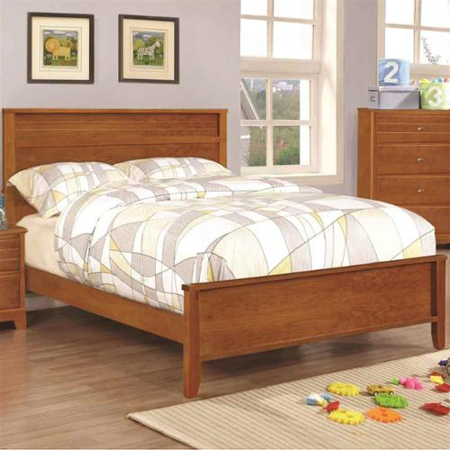 Modern Bed with Framing Details (Full - 80.75 in. L x 59 in. W x 46 in. H)