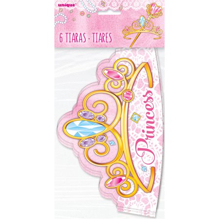 Paper Jeweled Pink Princess Tiaras, - Princess Tiara Favors