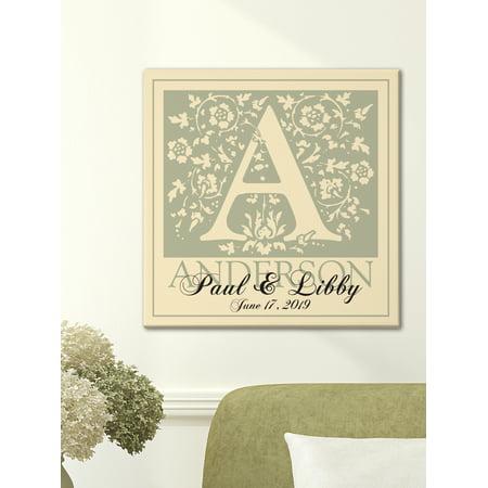 Wedding Wall Decor (Personalized Initial Wedding Canvas Wall)