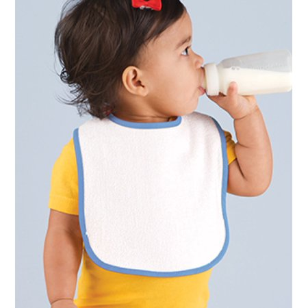 Rabbit Skins Infant Contrast Terry Trim Bib 1003 Infant Snap Terry Bibs