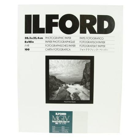 Ilford Multigrade Filter - Ilford B&W Paper 8X10 Multigrade IV 100 Pack (Pearl)