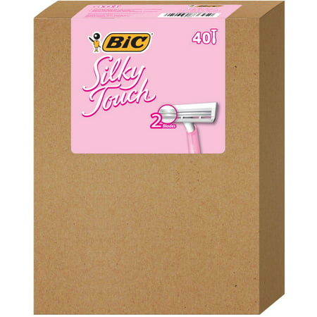 BIC Silky Touch Womens Twin Blade Disposable Razor, 40 count