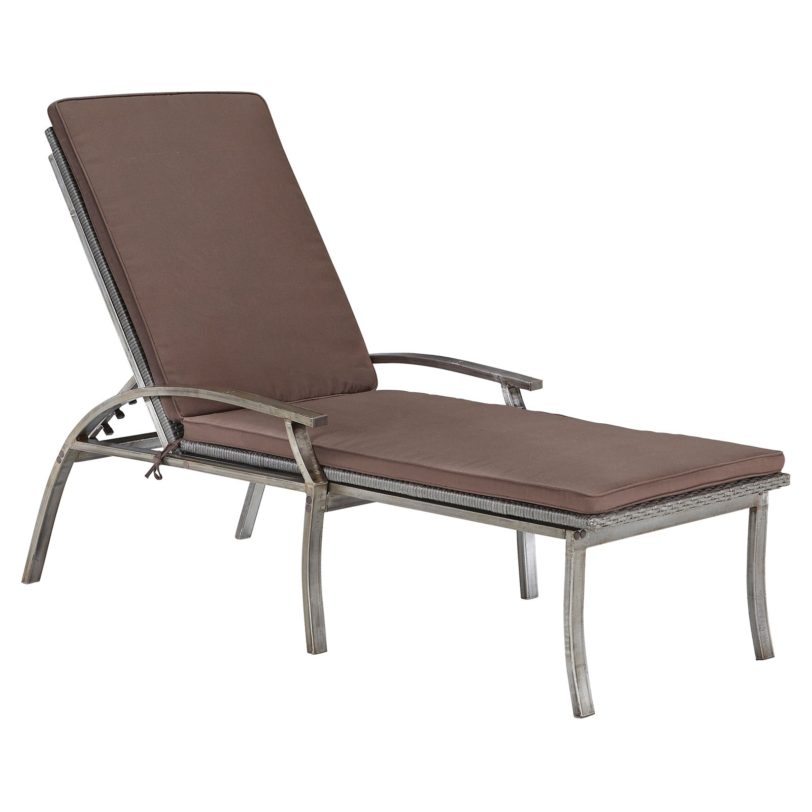 Home Styles Urban Outdoor Chaise Lounge Chair, Aged Metal