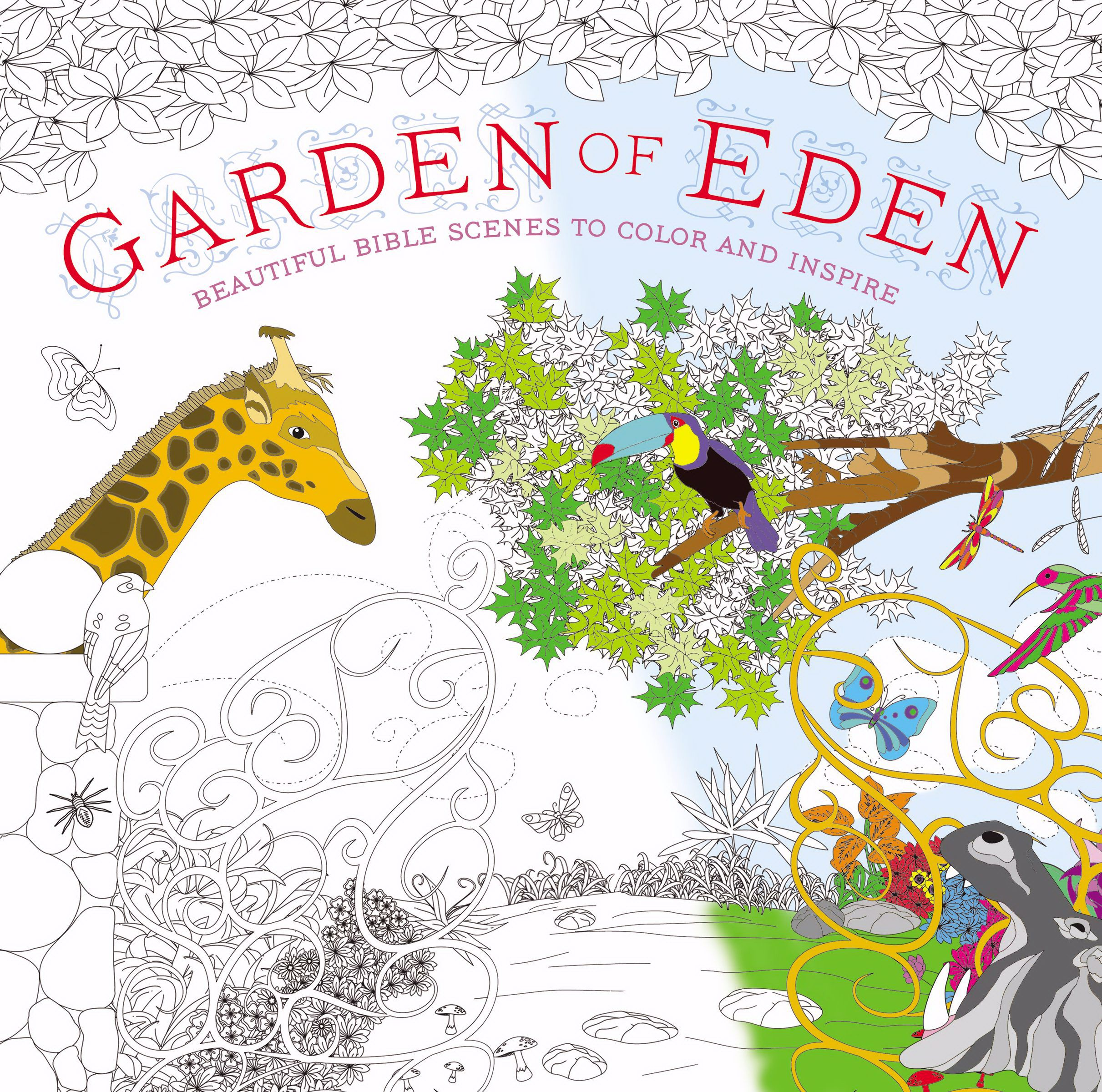 Garden Of Eden Adult Coloring Book