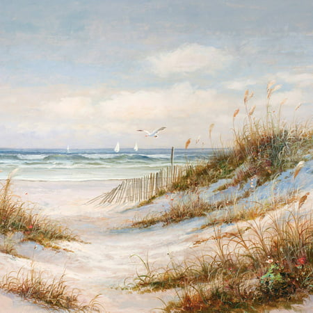 """Portfolio Canvas Decor """"Sea Breeze II"""" Framed and Stretched Large Wall Art"""