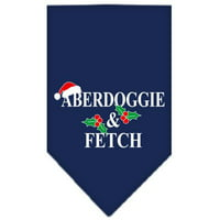 Aberdoggie Christmas Screen Print Bandana Navy Blue large