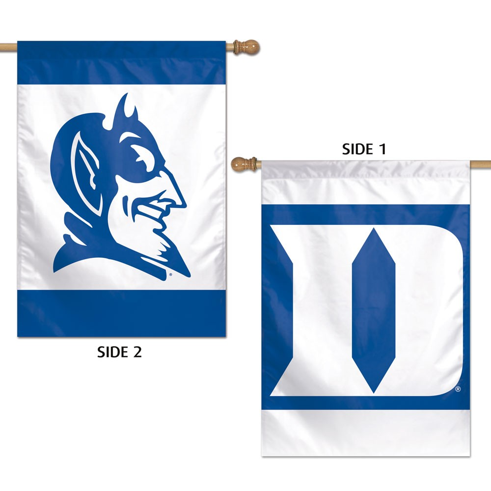 Duke Blue Devils Official NCAA 28 inch  x 40 inch  Two Sided Vertical Flag by Wincraft