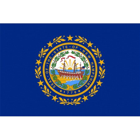 Laminated Poster New Hampshire State Flag Concord Manchester Nh Poster Print 24 x 36 ()