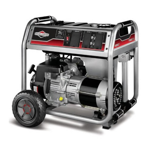 Briggs and Stratton 6000-Watt Gas Powered Portable Generator with 1650 Series 342cc Engine and Power Surge Alternator