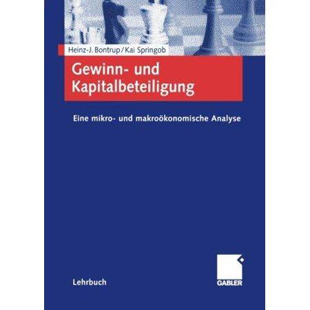 Gewinn  Und Kapitalbeteiligung  Eine Mikro  Und Makrookonomische Analyse  2002   German
