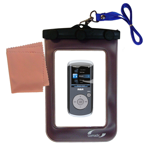 Gomadic Clean and Dry Waterproof Protective Case Suitablefor the RCA M4208 OPAL Digital Media Player to use Underwater
