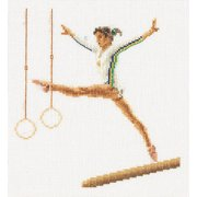 Thea Gouverneur Linen Counted Cross-Stitch Kit, Gymnastics