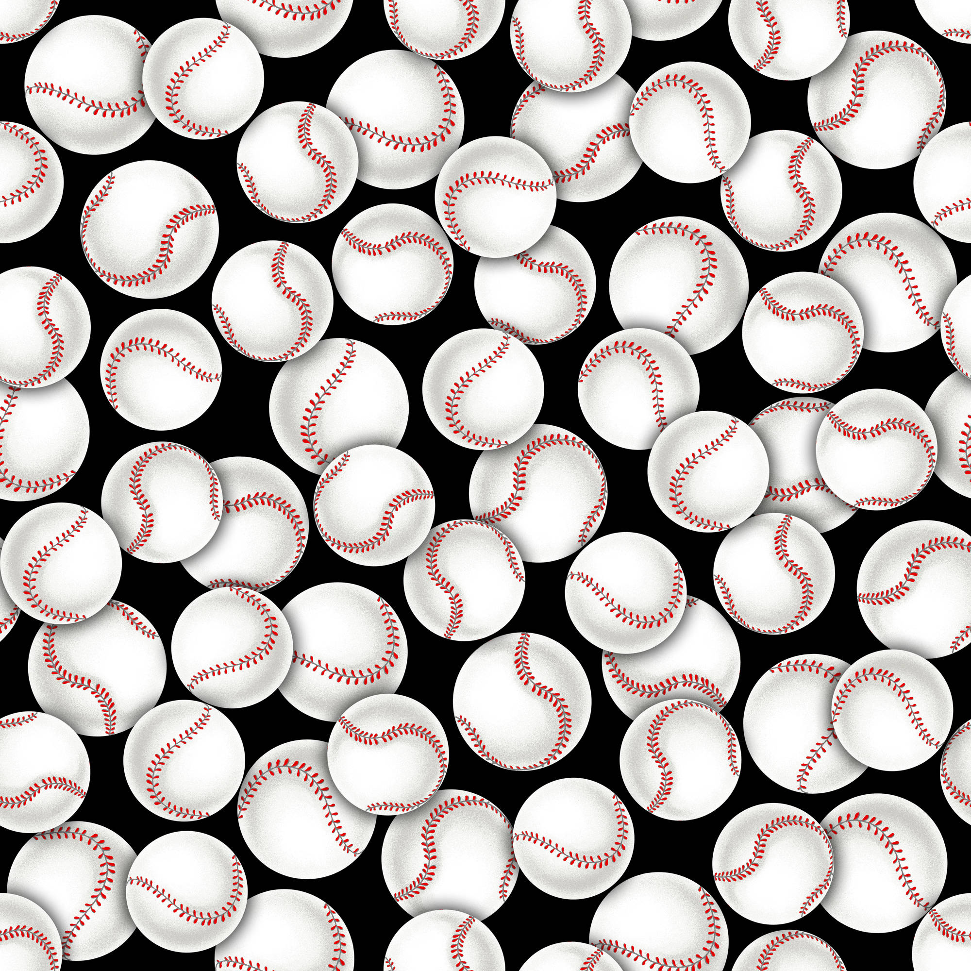 Baseballs Quilting Cotton Fabric By The Yard, 44""