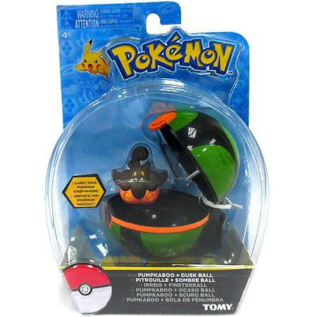 Pokemon Clip n Carry Pokeball Pumpkaboo & Dusk Ball Figure Set](Pokemon Balls That Open)