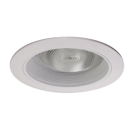 NICOR Lighting 6-Inch Recessed Baffle Trim for R40 Lights, White (17510) 6' Recessed Lighting Compact