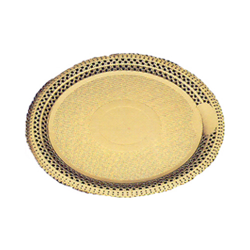 "Novacart Gold lace cake board, Round. Inside 8-5/8,"" Outside 11"", Case Of 100"