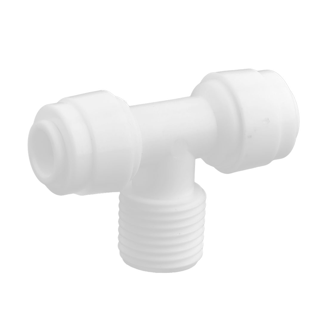 Household Plastic Water Filter Purifier Pipe Quick Joint Connector White - image 3 of 3