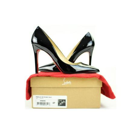 Christian Louboutin Black Pigalle 100 Patent Calf sz 37 41CLA3917